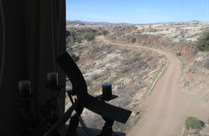 The treacherous road to the guest rooms, as seen from Craft III, Arcosanti's gallery/bakery/restaurant.