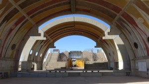 "South Vault. Not sure if the ""Arc"" in ""Arcosanti"" has to do with circles, but just you try to find a Soleri structure w/o any."