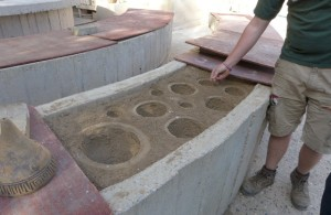 2. Silt beds used for casting ceramic bells.